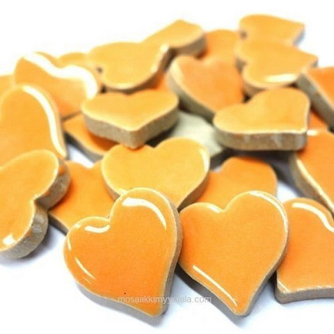 Ceramic Hearts, Orange, 50 g