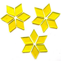 Hand cut Diamonds, Clear Yellow, 25 g