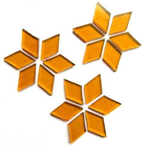 Hand cut Diamonds, Golden Amber, 25 g