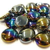 Glass Gems, 100g, Black Opalescent