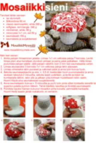 Mosaic mushroom, instruction