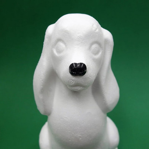 Plastic animals' nose, 15 mm