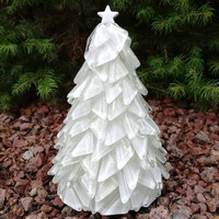Christmas Tree, White, DIY, 14cm