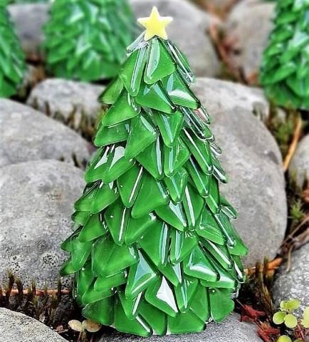 Christmas Tree, Green, DIY, 14cm