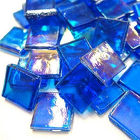 Ice Glass, transparent, Blue 200g