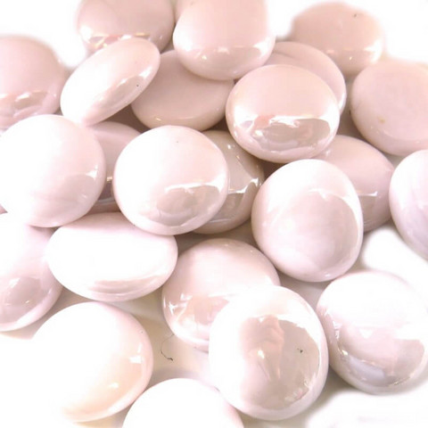 Glass Gems, 100g, Pastel Pink Opalescent