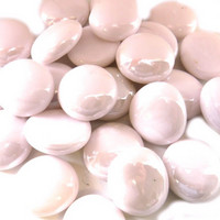 Glass Gems, 500g, Pastel Pink Opalescent