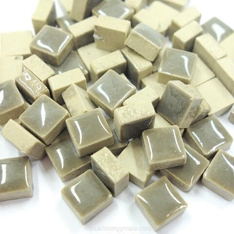 Mini Glazed Ceramic, Grey, 81 pcs