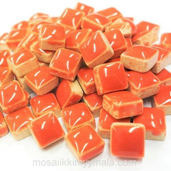 Mini Glazed Ceramic, Salmon, 81 pcs