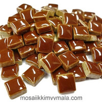 Mini Glazed Ceramic, Brown, 81 pcs
