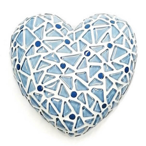 Mosaic Heart, Light blue, DIY