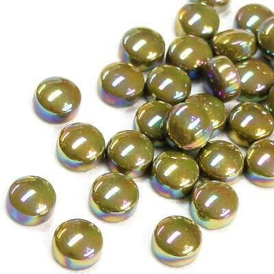 Minipärlor, Pearlised, Light Olive, 50 g
