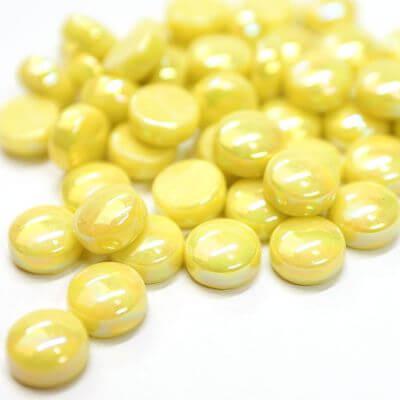Mini Gems, Pearlised, Acid Yellow, 200g