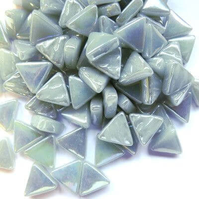 Mini Triangle, Iridised Pearl Grey, 50g