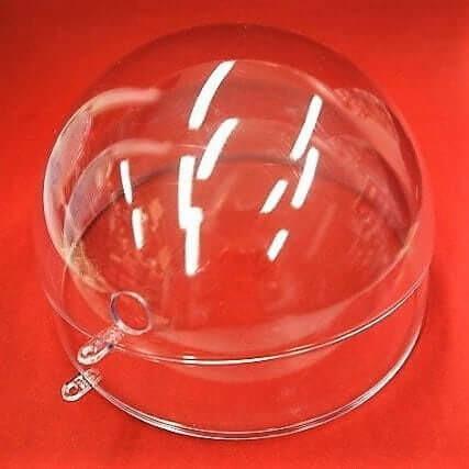 Muovipallo, kirkas 10 cm, reiällinen
