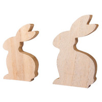 MDF Deco rabbits, 2 pcs