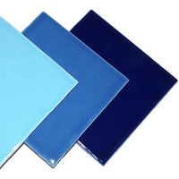 Ceramic tile, Blue Mix, 9 pcs