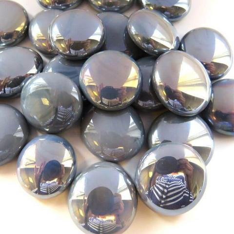 Glaspärlor, 500 g, Grey Opalescent