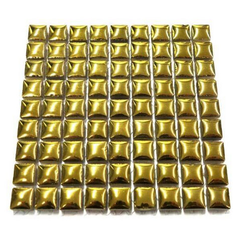 Mini Glazed Ceramic, Gold, 81 tiles