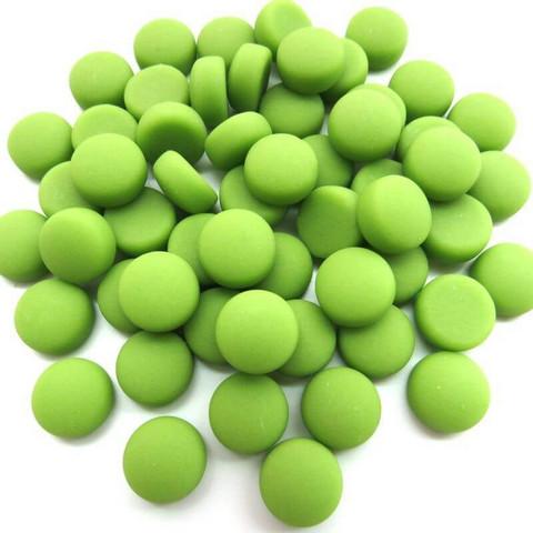 Minipärlor, Matte, Lime 50 g