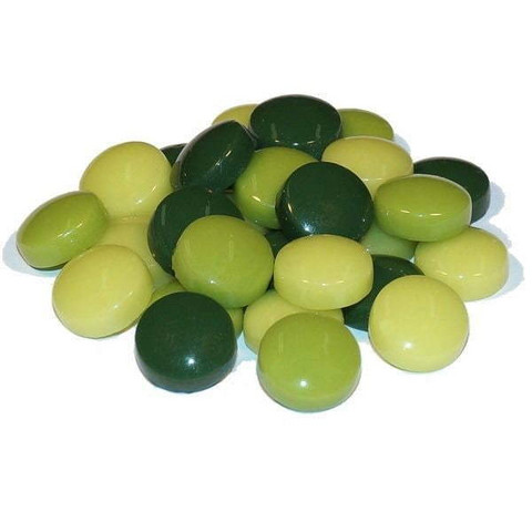 Fantasy Glass, Round 12 mm, Green Mix, 50 g