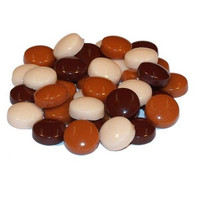 Fantasy Glass, Round 12 mm, Brown Mix, 50 g
