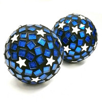 Mosaic Balls, Stars, 2 pcs, DIY