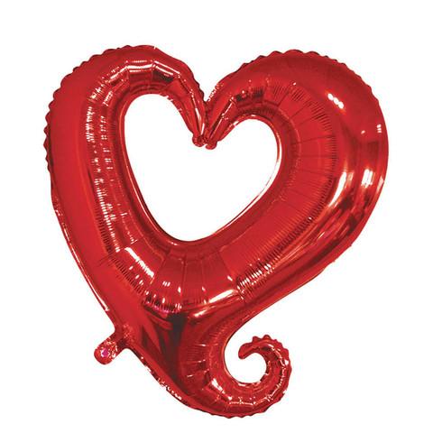 Folieballong, Hjärta