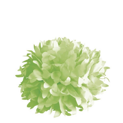 Paper pom-poms, 3pcs, 35cm ø evergreen