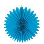 Paper rosette, 40cm ø azure
