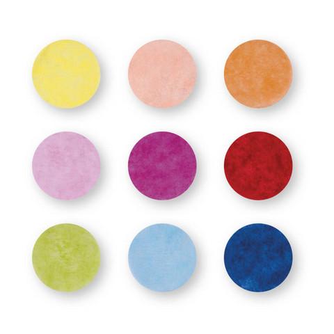 Konfetti, 2cm ø, blandade färger
