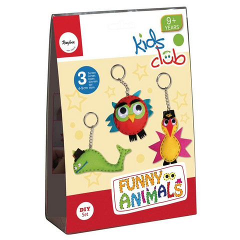 Crafting kit: Funny Animals, 3 types, DIY