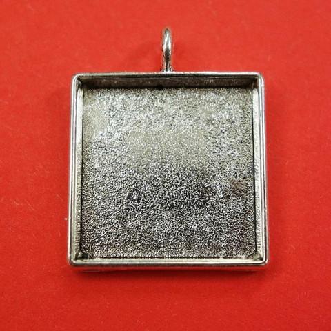 Ramberlock, 23 mm, fyrkantig, färg antiksilver