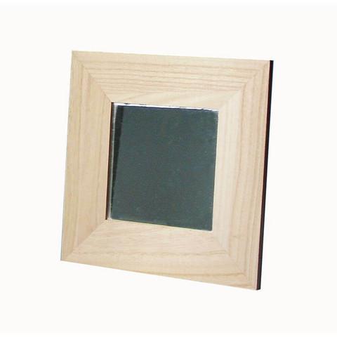 Spegel med träram, 22x22 cm