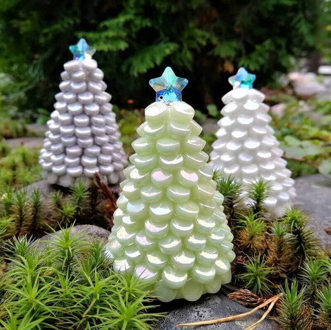 Micro Christmas Trees, 3 pcs, DIY