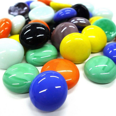 Glass Gems, Mix Opaque, 1 kg