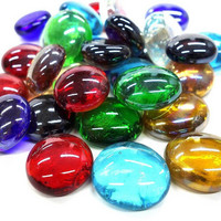 Glass Gems, Mix Iridescent, 1 kg