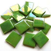 Pâte de Verre, Iriserande Green, 100 g