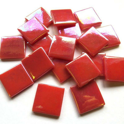 Pate de Verre, Iridescent Red, 100 g