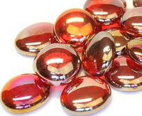 Glass Gems, 100g, Red Diamond, transparent