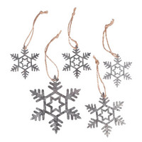 Spruce decoration, Snowflakes, 5-9cm, 5 pcs