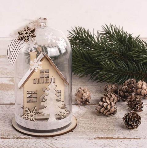 Jouluasetelma, Winter houses, DIY, 2 kpl