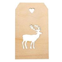 Spruce decoration, Reindeer, 4.8 x 8.2cm