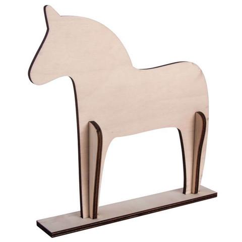 Trähäst, Scandinavia, 22 cm,DIY