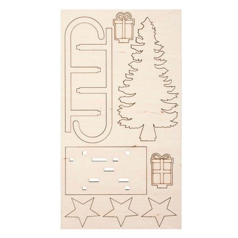 Jouluasetelma, Kelkka + Kuusi, DIY