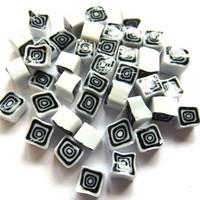Millefiori, Black-White Square, 20 g