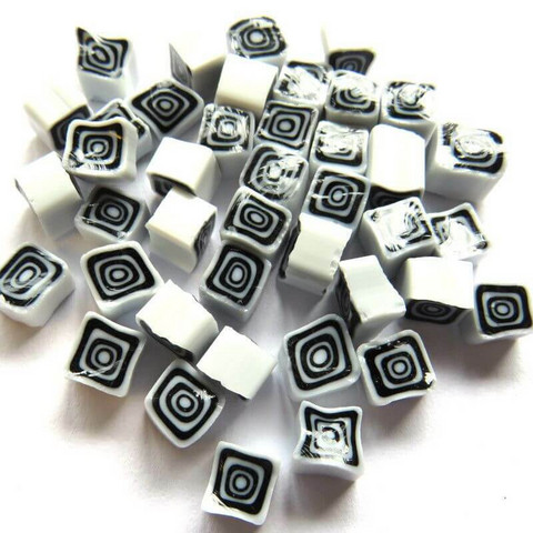 Millefiori, Black-White Square, 20 g