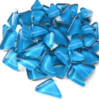 Soft Glass, Turquoise Triangle 500 g