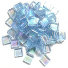 Transparent 10 mm, Tyrolite, iridescent, 50 g