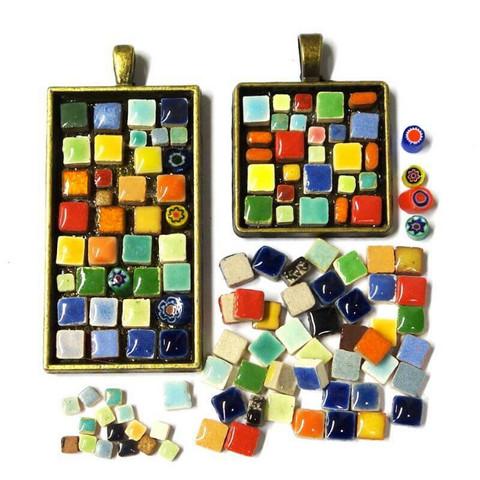 Mosaic jewelry, 2 pcs, bronze, DIY